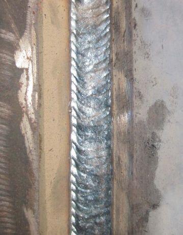 Сварной шов, полученный при помощи каретки HIT-10