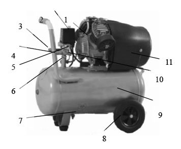 Основные компоненты компрессора Aurora Gale-50