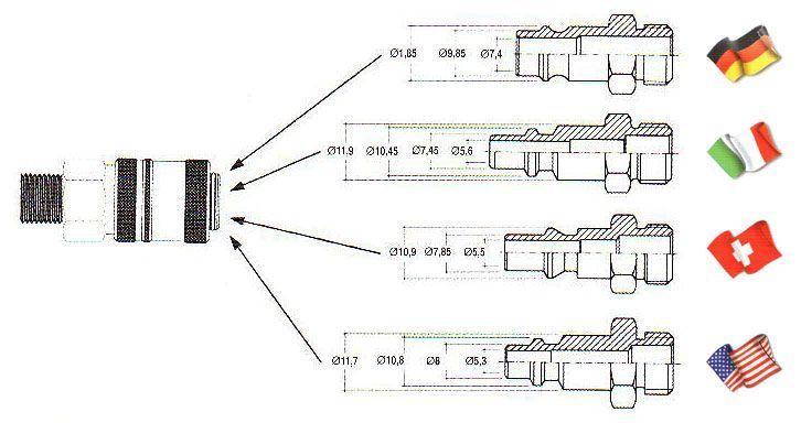 Универсальное быстросъемное соединение