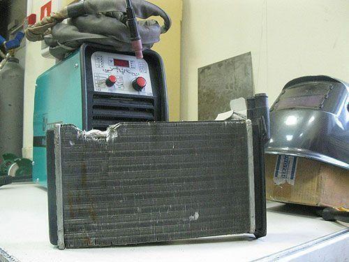 Сварка автомобильного радиатора