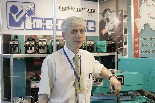 Константин  Бабарыков на выставке Сварка-2010