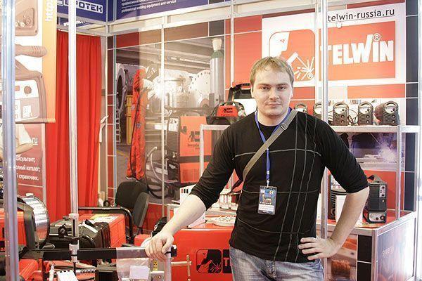 Дмитрий  Никулин на выставке Сварка-2010
