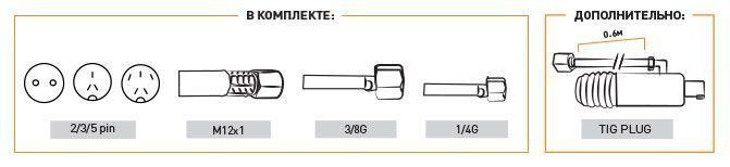 комплектация горелки tig 25