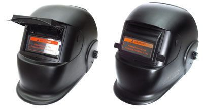 Aurora BLACK GLASS маска сварщика с поднимающимся светофильтром.