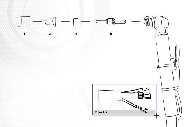 Деталировка для заказа комплектующих к резаку pt-31